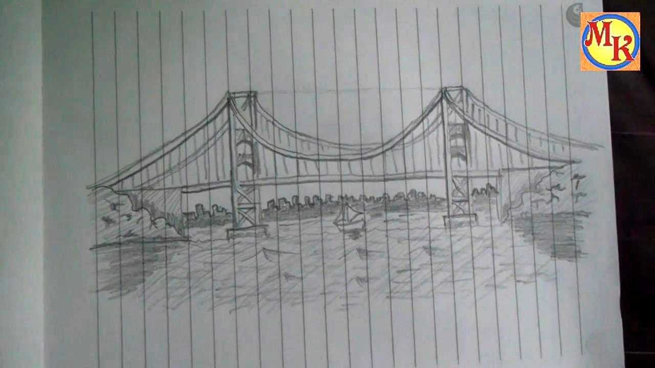 Cara Menggambar Jembatan Speed Drawing Youtube