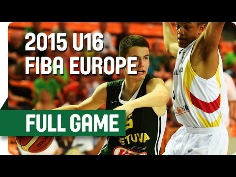 Germany v Lithuania - Group E - Full Game - 2015 U16 European Championship Men