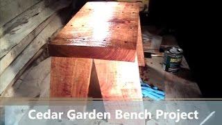 Cedar Garden Bench Gift Idea