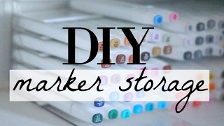 DIY marker storage