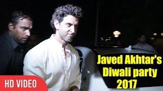 Hrithik Roshan Javed Akhtar And Shabana Azmi Diwali Party 2017
