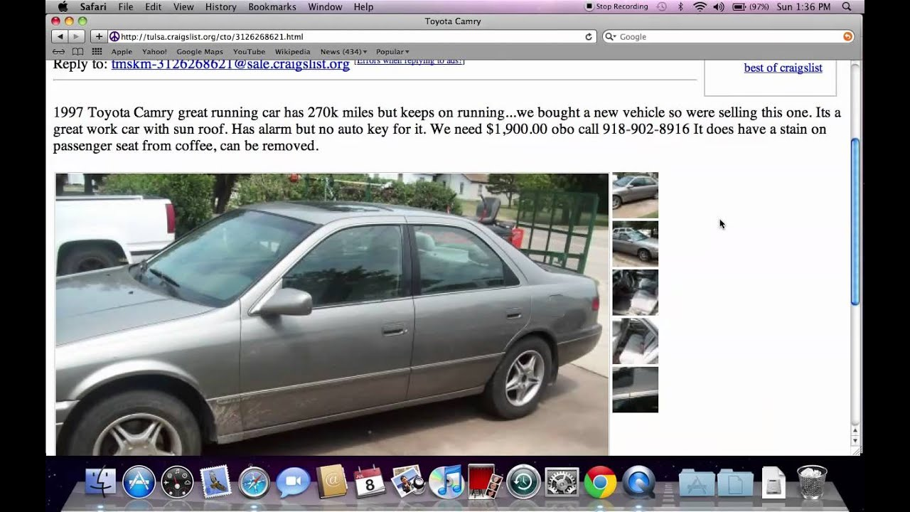 Used Cars Tulsa >> Craigslist Tulsa Ok Used Cars And Trucks For Sale By Owner Options