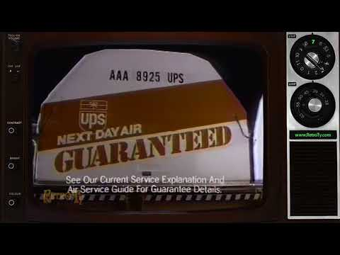 1988 - UPS - Next Day Air Guaranteed Delivery