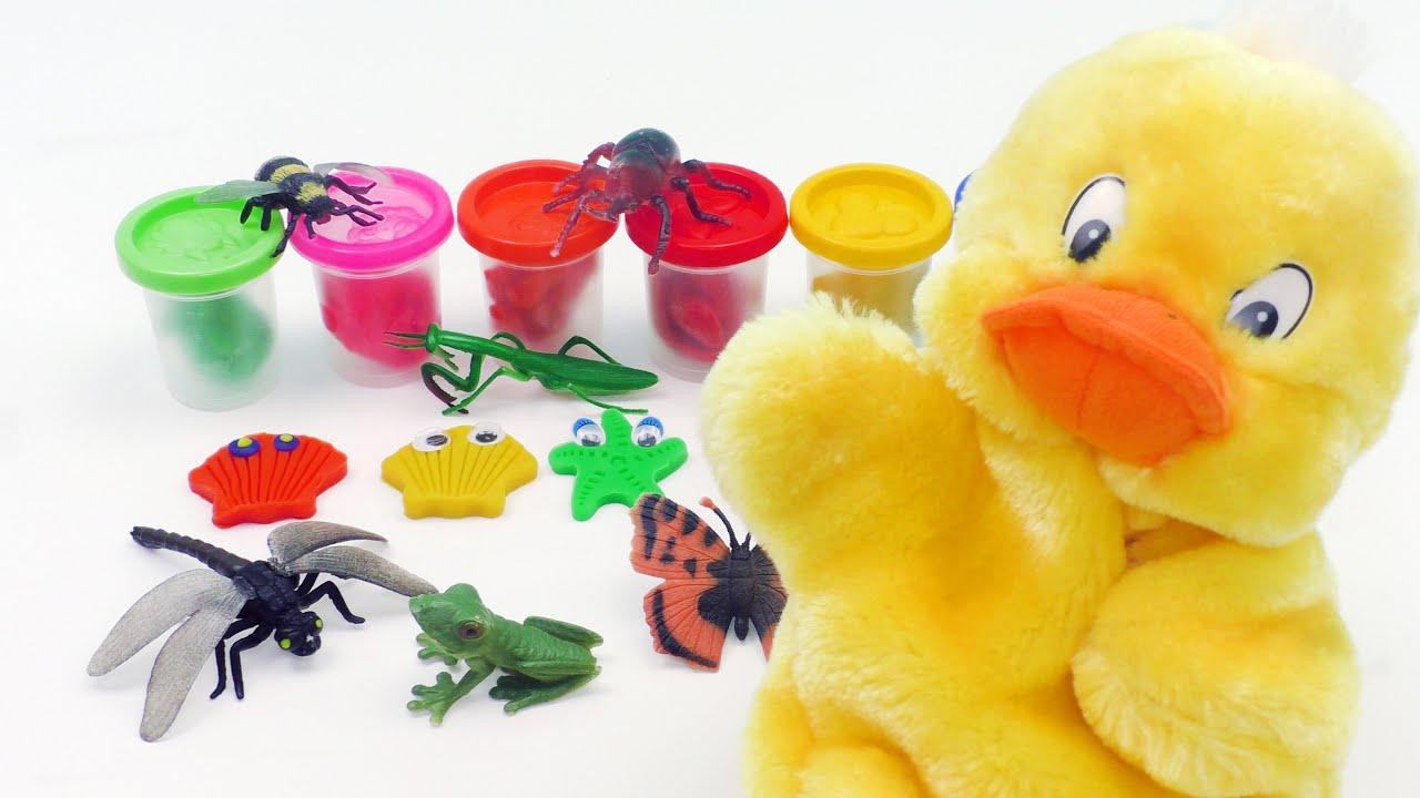 ЗАНИМАТЕЛЬНЫЕ ЖИВОТНЫЕ Видео для ДЕТЕЙ - Мультик для малышей с ВЕСЕЛОЙ УТКОЙ
