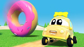 InvenTom The Tow Truck - GIANT DONUT destroys everything in CAR CITY - Car City - Cartoons for kids