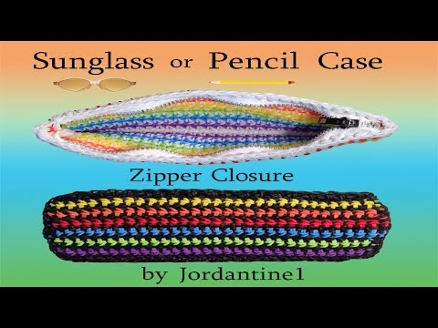 how-to-add-a-zipper-closure-to-a-rubber-band-crochet-project---pencil-case---rainbow-loom