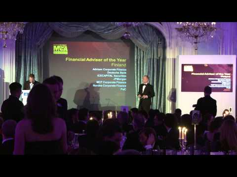 Nordea Corporate Finance -  Finland Financial Adviser of the Year