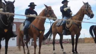 Buffalo Soldiers of the American West perform during Greeley Stamped