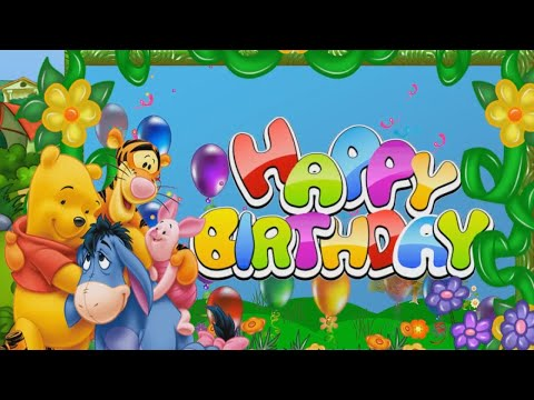 Winnie the Pooh Happy Birthday Songs for kids| Happy birthday song for children|party song|kids song