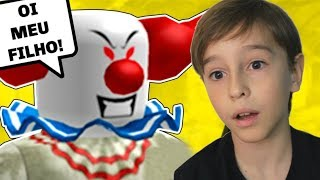 MY DAD TURNED THE KILLER CLOWN INTO ROBLOX | FAMILY PLAYING