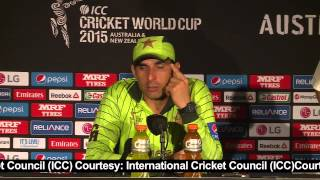 2015 WC PAK vs ZIM Misbah on Pakistan
