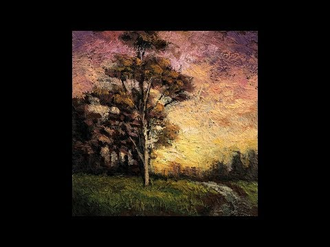 Twilight Field 3½x3½ Tonalist Landscape Oil Painting Demonstration