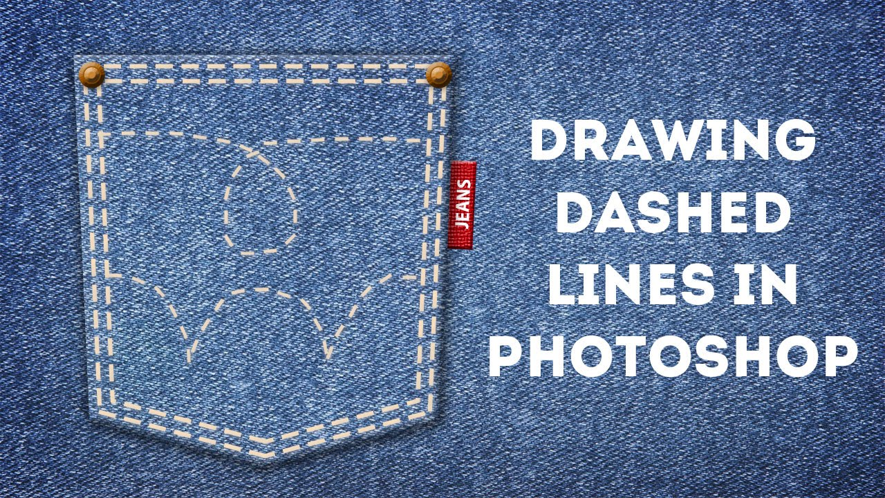Drawing Lines With Photo Cs : Drawing dashed lines in photoshop youtube