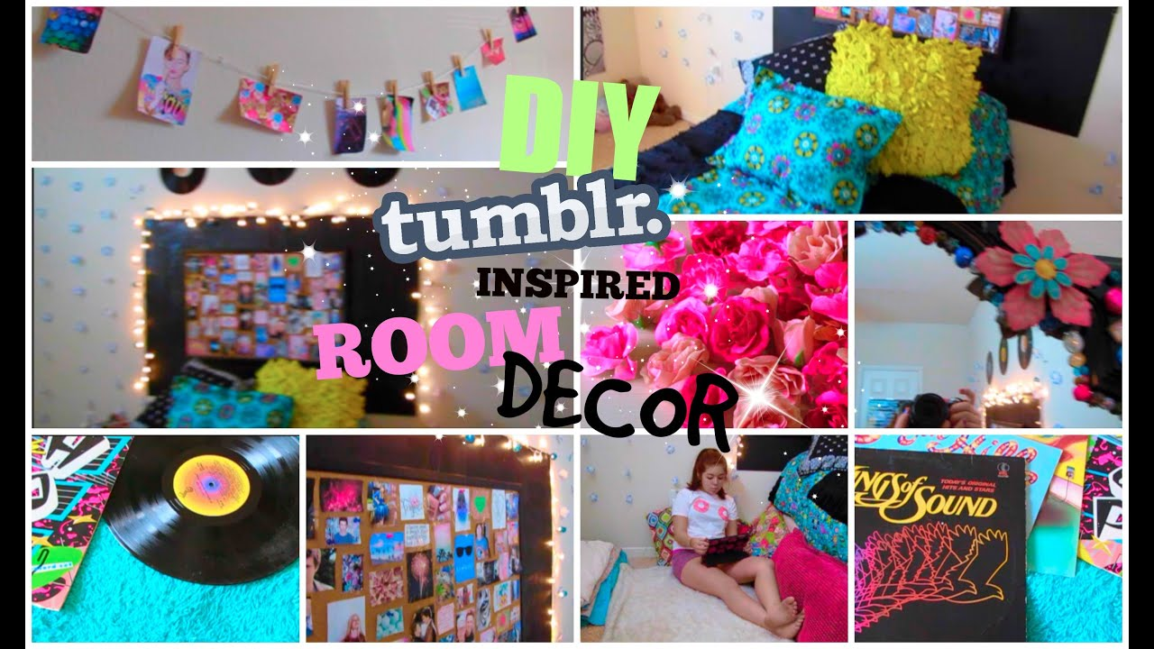 Diy tumblr inspired room decor for teens cute and cheap cartneybreanne youtube - Cute teen room decor ...