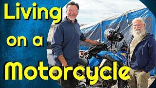 True Adventure--Living in a Motorcycle Pop-Up Trailer