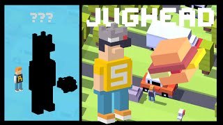CROSSY ROAD ACE / JUGHEAD UNLOCK | NEW Secret Character Micro Update | 50 Burgers w Archie / Rocky