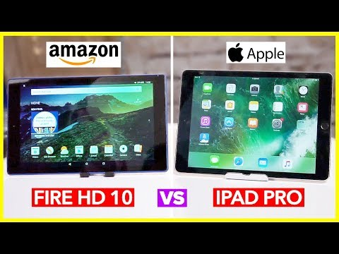 New Amazon Fire HD 10 Tablet Review (iPad Pro Vs Fire HD) + GIVEAWAY!