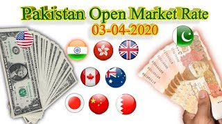 Currency rate in Pakistan, Currency Rates Pakistan Today,1US dollar in pak currency today 3April2020