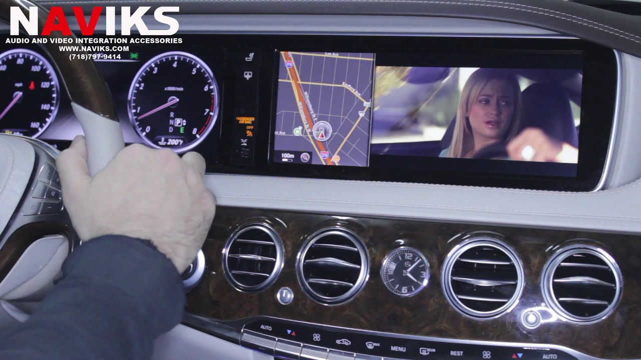 2014 Mercedes-Benz S-Class S550 W222 Video in Motion bypass: DVD, USB & SD  Card