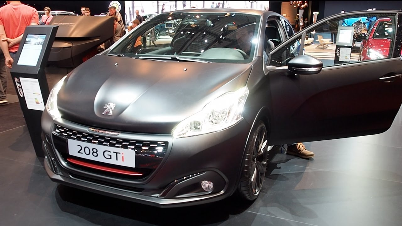 Peugeot 208 gti 2017 in detail review walkaround interior for Peugeot 208 interior 2017