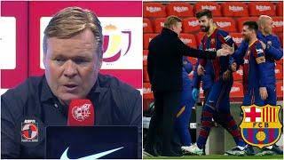 IMPERDIBLE La reacción de Ronald Koeman tras la remontada del Barcelona vs Sevilla | Fuera de Juego