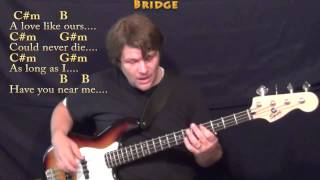 And I Love Her (Beatles) Bass Guitar Cover Lesson with Chords/Lyrics