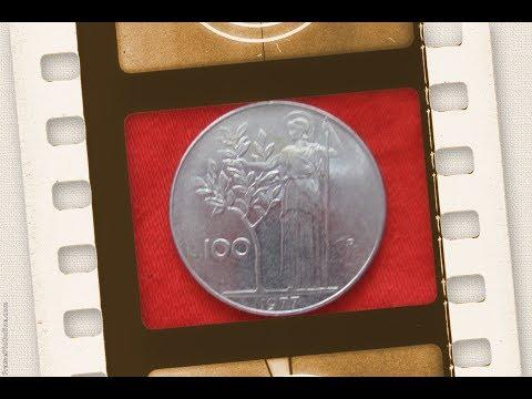 Old italian lira coins L100 lires 1979  coin Italy /  монета 100 лир Италия нумизматика