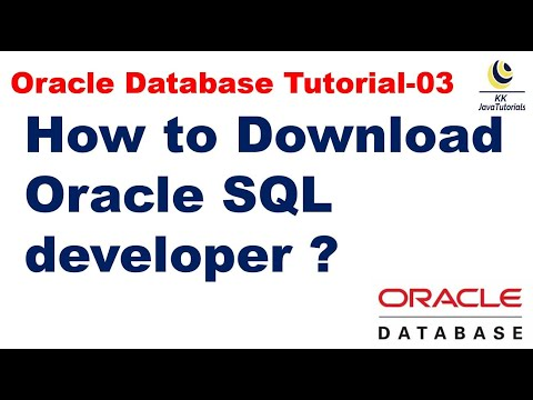 How to Download Oracle SQL developer ?|| Oracle Database Tutorial || Database Interview question