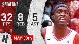 Pascal Siakam Full Game 1 Highlights Raptors vs Warriors 2019 NBA Finals - 32 Pts, 5 Ast, 8 Reb!