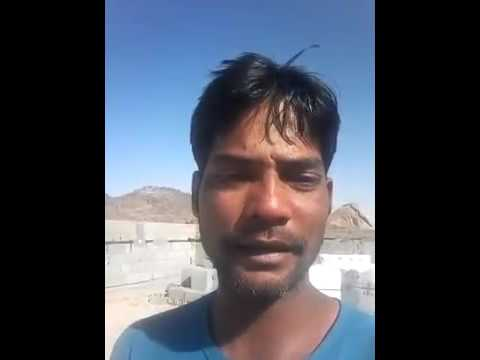 Indian worker beggars  in gulf country