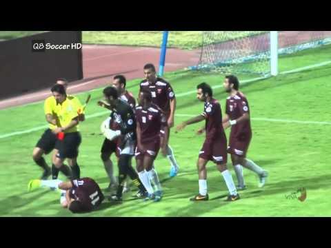 Kuwait football league crazy referee