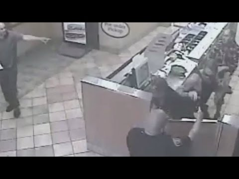 RAW: Surveillance Video Showing Moments Before San Francisco Officer-Involved Shooting At Subway Sho