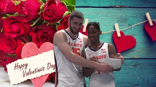 Illinois sophomore discusses the pros and cons of valentine's day with his illini teammates.