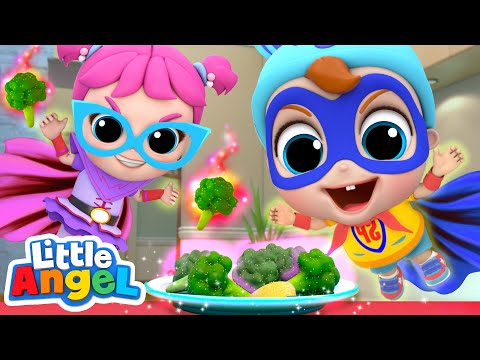 Vegetables Make Us Strong! | Healthy Habits Song | Little Angel Kids Songs