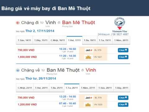 Ve may bay di Buon Ma Thuot