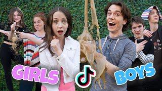 Girls Vs Boys Making Tik Toks *hilariously relatable*