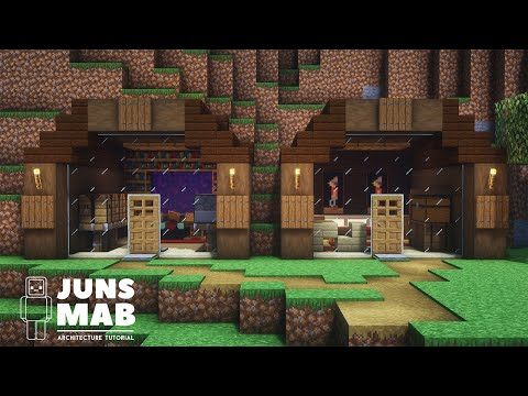 Minecraft : MOUNTAIN HOUSE TUTORIAL|How to Build in Minecraft (#136)