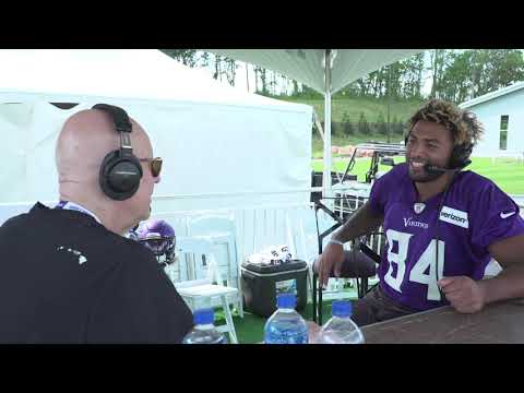 Vikings Blog - VIDEO: Vikings Rookie TE Irv Smith Jr. Joins Barreiro at Training Camp