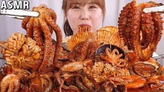 ASMR Mukbang 좋아하는 해산물을 다 넣어본 해…