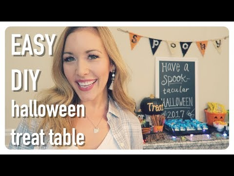 easy halloween treat tablescape | simple + cute spider trick or treat table decorations | brianna k