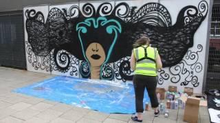 Pangaea Manchester Carnival June 2016 - Festival graffiti by 7th Pencil