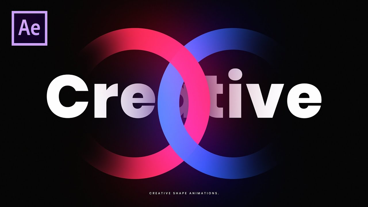Typography Shapes Motion Graphics in After Effects