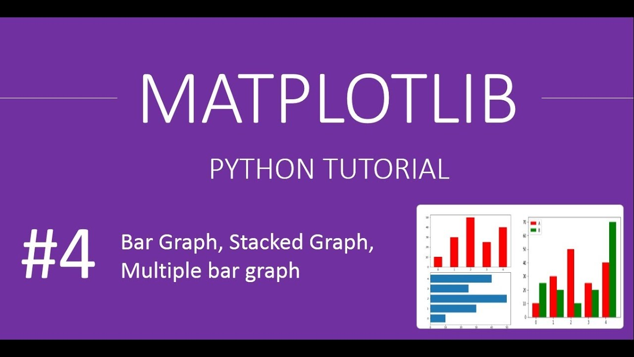 How to plot Stacked Bar Graph, Multiple Bar Graph, Horizontal Graph :  MatPlotLib Tutorials # 4