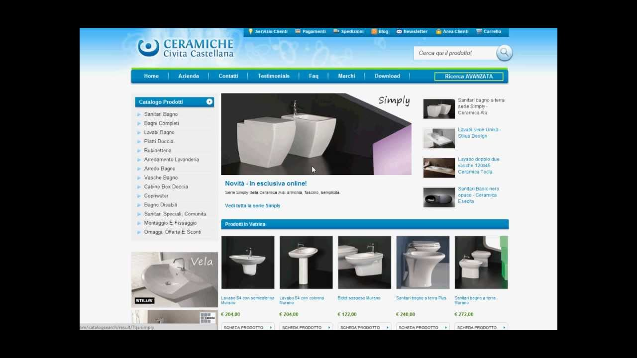 Video tutorial come acquistare online sanitari e arredo bagno su ceramiche civita castellana - Arredo bagno civita castellana ...