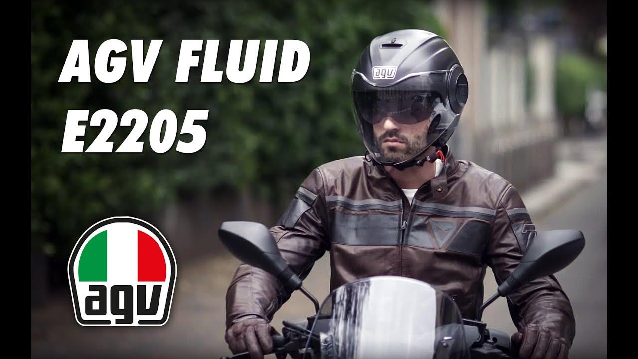 Casco Agv Fluid E2205 Youtube