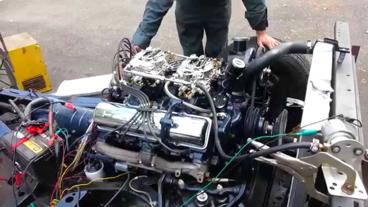 Running my 1961 Cadillac Coupe's fresh 390 - YouTube