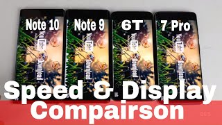 Galaxy Note 10+ Vs Galaxy Note 9 Vs OnePlus 7 Pro Vs Oneplus 6T | Speed & Display | Old Vs New