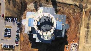 an aerial view of construction of the new union library part 2