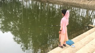 Best Hook Fishing Video   Beautiful Girl Fishing With Hook   Village Daily Life (Part-273)