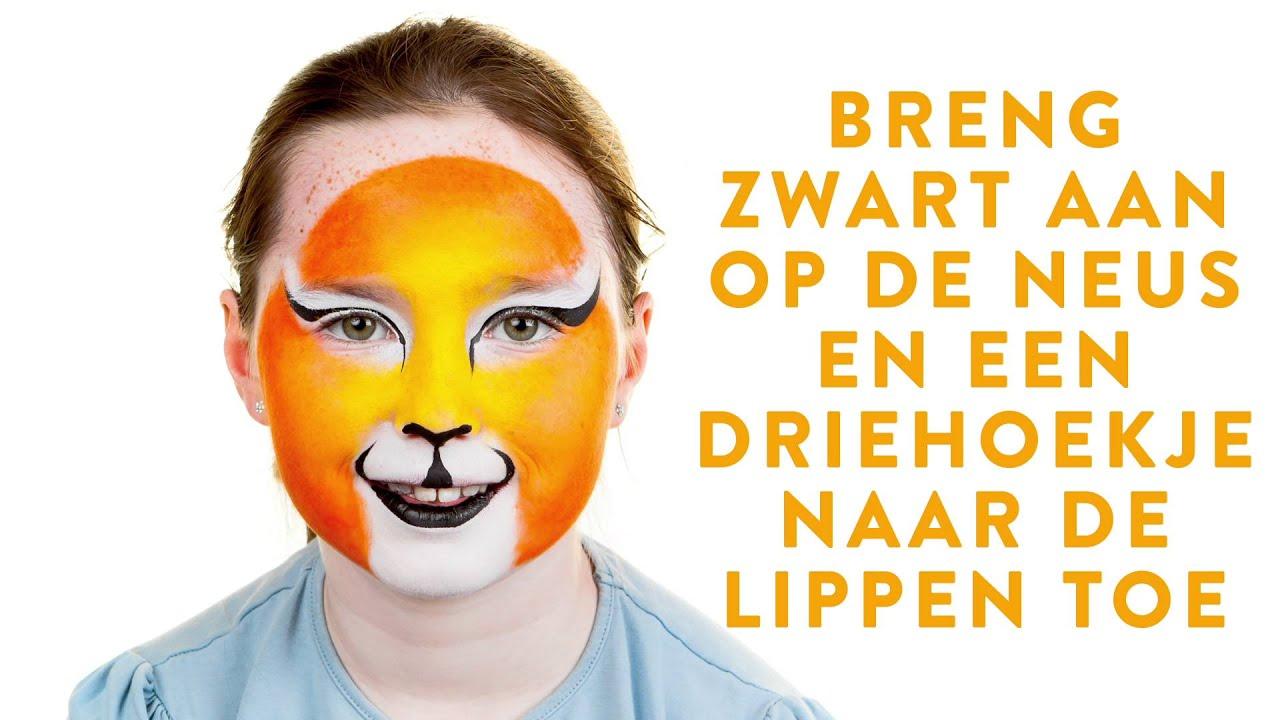 Uitzonderlijk Grime voor carnaval: stoere tijger - YouTube &EB24